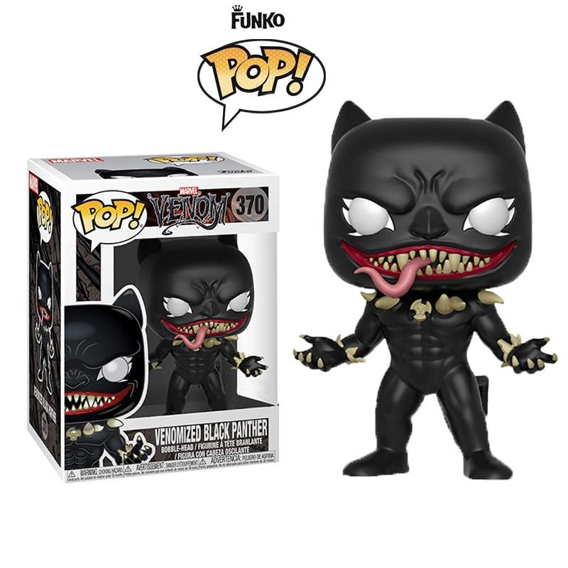FUNKO POP Marvel Venom Action figures Carnage Venomized Anti-Venom Hulk Loki Iron man Captian America Vinyl Doll Model Toys Gift