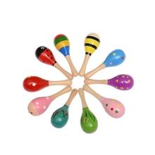 Brinquedos do bebê de madeira diversão pouco alto sino bola chocalhos brinquedo desenvolver criança inteligência agarrar brinquedo handbell infantil dos desenhos animados