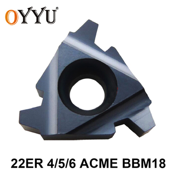 OYYU 10pcs 22 ER 4 5 6 ACME BBM18 22ER 4ACME 5ACME 6ACME Carbide Inserts Lathe Cutter Threading CNC Turning Tool free shipping