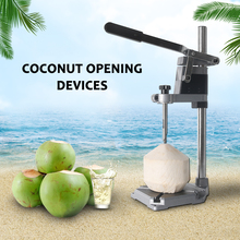 Manual Coconut Opening Machine Stainless Steel Tapping Hole Coco Water Juicer Driller Opener Tender Green Punching