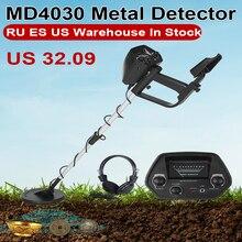MD-4030 Metall Detektor Unterirdischen Gold Detektor MD-4030 Metall Länge Einstellbare Schatz Hunter Seeker Tragbaren Detektor