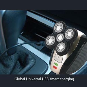 Image 4 - جديد 5 head الحلاقة الكهربائية الحلاقة الحلاقة الرجال 4D مقاوم للماء USB قابلة للشحن متعددة الوظائف ماكينة حلاقة