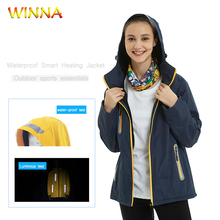 Unisex Winter Heating Jackets Waterproof Electric Thermal Clothing Heated Hiking for Outdoor Climbing Skiing Camping