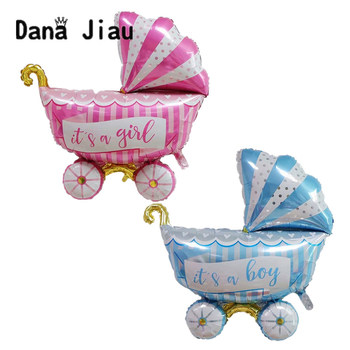 danajiau it's a boy /girl BIG baby car foil balloons colorful children birthday party decoration ball baby shower toy supplier image