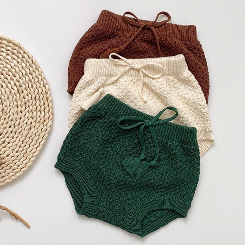 Kids Baby Boys Girls Loose Shorts Pants Children's Clothing Autumn Casual Shorts Pant Baby Boys Girls Children Knit Shorts Pants 1