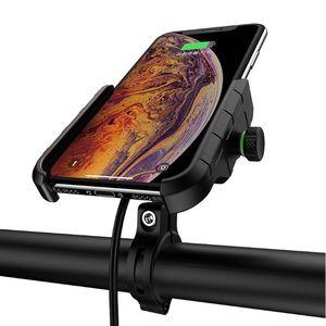 Image 4 - Étanche 12V moto téléphone Qi charge rapide sans fil chargeur support support support de montage pour iPhone Xs MAX XR X 8 Samsung