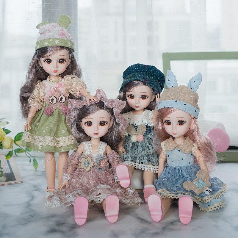 Janenaリトルプリンセス30センチメートル格好bjd人形姫女の子のおもちゃ誕生日プレゼント