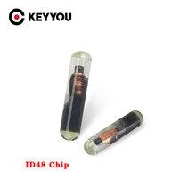 Keyyou id48 chip em branco t6 criptografia desbloquear cópia do carro chave de vidro transponder chip id 48 chip para audi vw skoda seat honda porsche