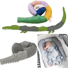 Cute Crocodile Design Baby Bed Bumper Cartoon Crib Bumper for Baby's Shower Gift Birthday Gift Newborn Baby Doll Toy 185cm