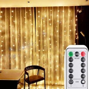 Рождественские украшения для дома 3X3M светодиодный Рождественский светильник для помещений с дистанционным управлением USB светодиодный гирлянда сказочные огни гирлянда|Светодиодная лента|   | АлиЭкспресс