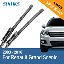 SUMKS Wiper Blades for Renault Grand Scenic II III 2003 2004 2005 2006 2007 2008 2009 2010 2011 2012 2013 2014 2015 2016