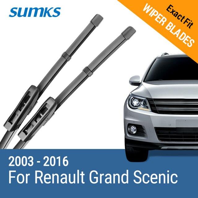 SUMKS Wiper Blades for Renault Grand Scenic II III 2003 2004 2005 2006 2007 2008 2009 2010 2011 2012 2013 2014 2015 2016