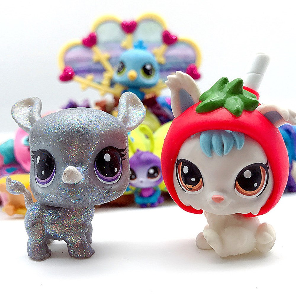 Pet Shop Figure Toys Kitty Unicorn Dog Animal Action Toy Collection Rare Glam Kids Toy Gift