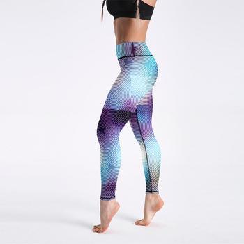 Qickitout 12% Spandex High Waist Digital Printed Fitness Leggings Push Up Sport GYM Leggings Women 16