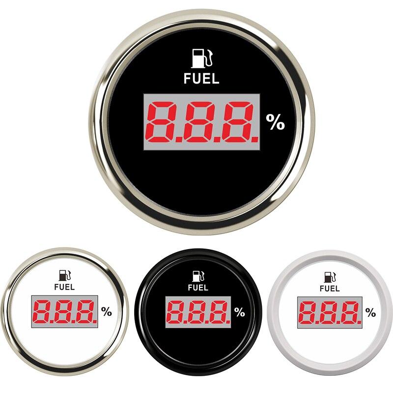 52 مللي متر معيار الوقود الرقمي مؤشر 190ohm 240ohm مقياس مستوى النفط الوقود متر نسبة ل يخت قارب القط دراجة نارية 9-32 فولت