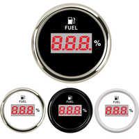 52mm Digital Fuel Gauge Indicator 190ohm 240ohm Oil Level Gauge Fuel meter percentage for Yacht Boat Cat Motorcycle 9-32V