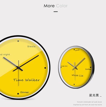 Nordic Digital Wall Clocks Bedrooms Yellow Wall Clocks Relojes De Pared  Living Room Silent Quartz Clocks Home Decor Bb50wc