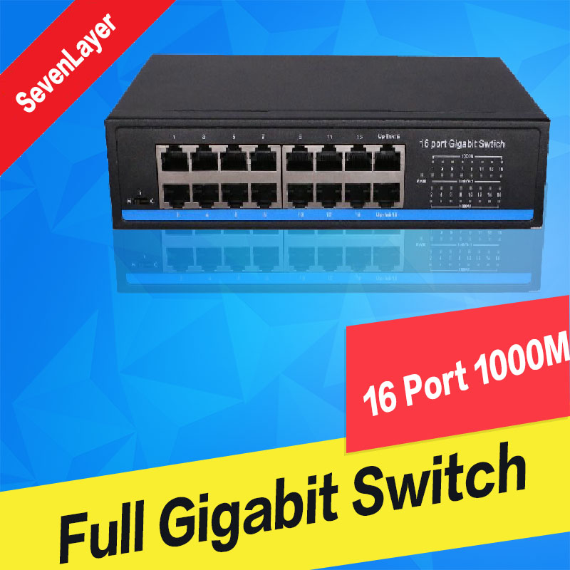 Commutateur Gigabit 10/100/1000M 16 Ports commutateurs Gigabit Ethernet Duplex