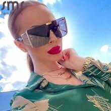 Sen Maries surdimensionné carré lunettes de soleil femmes 2020 marque de luxe lunettes de soleil de créateur hommes une pièce hommes Gafas ombre miroir UV400