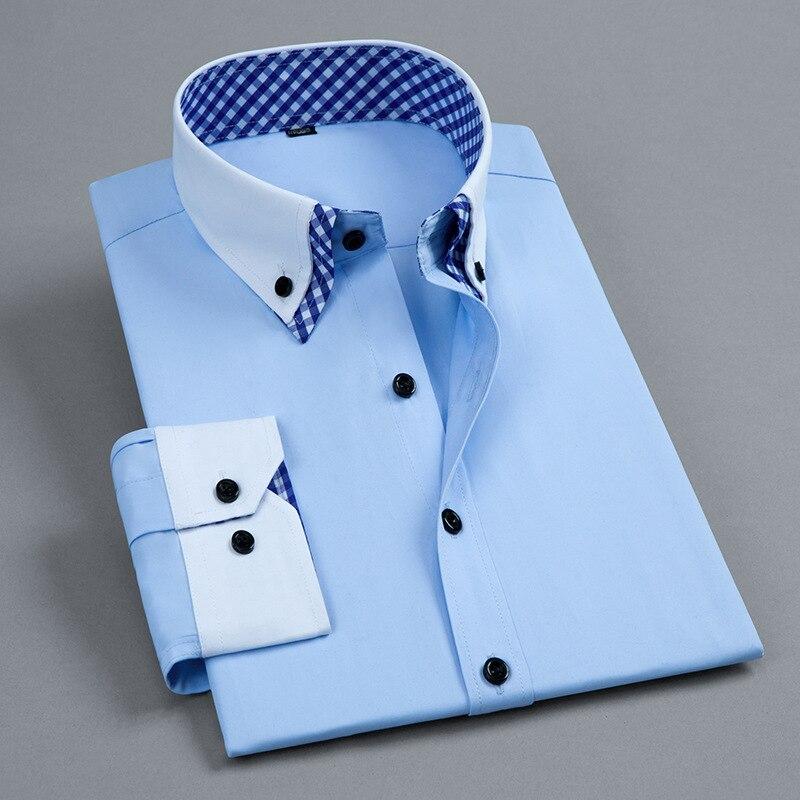 Business Professional Shirt Fashion Slim Korean Shirtman Long Sleeve Shirt Men's Blouses Casual Shirts Men Dress Casual Shirts