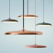 Moderno conduziu a lâmpada pingente nordic pendurado luminárias redondas sala de estar quarto jantar restaurante decoração interior luzes suspensão