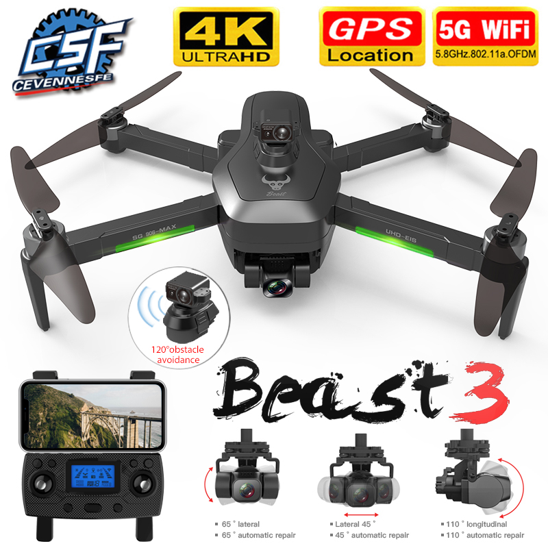 2020 NWE SG906/SG906 Pro 2 drone 4k HD mechanical 3 Axis gimbal camera 5G wifi gps system supports TF card drones distance 1.2km RC Helicopters  - AliExpress