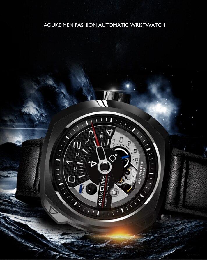 Aouke relógio automático para homens moda marca