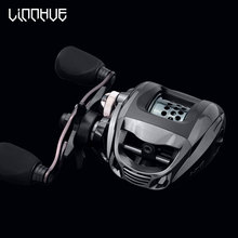 LINNHUE WB1000 Baitcasting Reel Shallow Spool 6.3:1 High Speend 12+1BB Right Left Hand 5.5KG Max Drag Saltwater Fishing