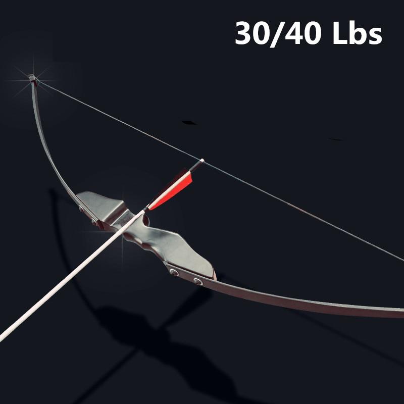 Профессиональный изогнутый лук 30/40lbs для правой руки стрельба из лука съемки на открытом воздухе Охота может использовать углеродные стрел...