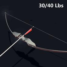 Profissional arco recurvo 30/40lbs para destro tiro com arco ao ar livre caça pode usar setas de carbono arco e flecha