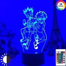 Anime Hunter X Hunter 3d Night Light Gon and Killua Figure Nightlight for Kid Bedroom Decor Lighting Child Gift Table Lamp