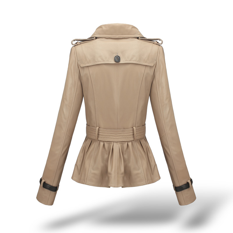 Montone Jacket Women Genuine Leather 100% Real Sheepskin Coats Female Slim Motorcycle Spring Autumn Clothes 2020 LWL1467