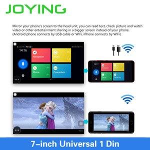 Image 3 - JOYING Android 8.1 Car Autoradio 1 Single DIN 7 Head Unit HD Multimedia Stereo Car Radio Player Bluetooth FM WIFI Mirror Link