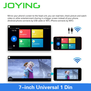 Image 3 - Joying Android 8,1 Авторадио автомобиля 1 один DIN 7 головное устройство HD мультимедиа для стерео Радио автомобильной Bluetooth FM wifi Зеркало Ссылка