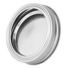 20 pçs boca larga jar tampas e faixa para mason jar canning cobre com anéis de vedação armazenamento alimentos cozinha jantar armazenamento capa