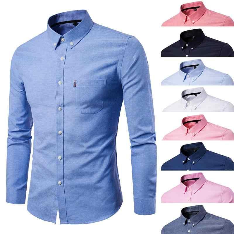 Men/'s Luxury Casual Classic Fit Shirt Long Sleeve Button Down Dress Shirt M-5XL