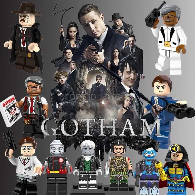 Gotham City Blok DC Film Action Figure Komisaris Gordon Batman Penguin Pahlawan Super Blok Bangunan Catwoman Superman Mainan