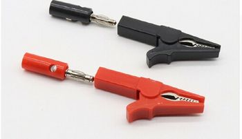 цена на 55mm Alligator Clip ,Banana PLUG Test Probes cable Insulate Clamp 4mm Banana Plug