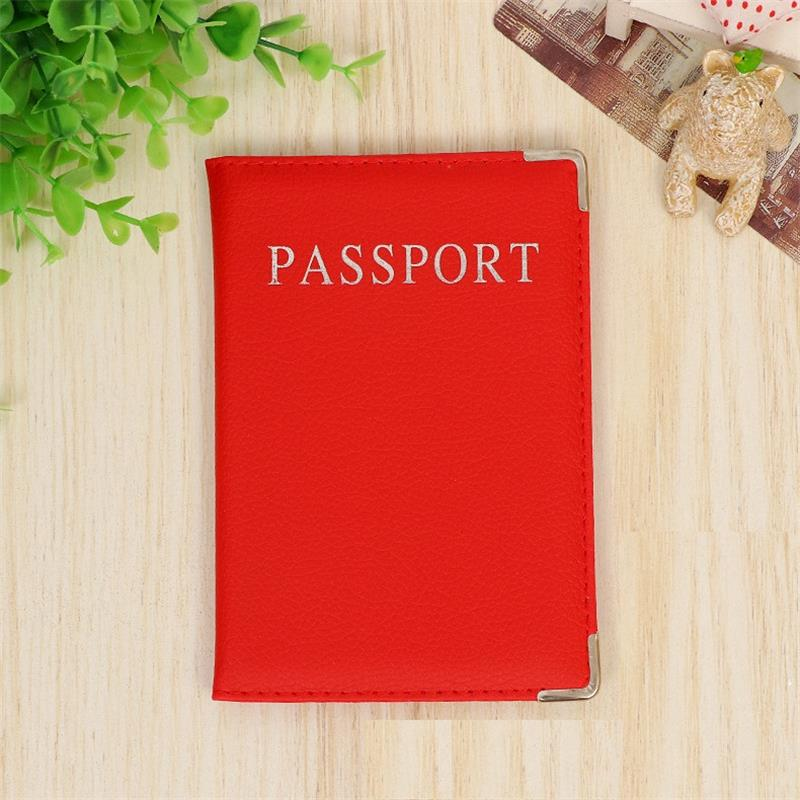 Cheap Travel Passport Holder Case For Men Soft Leather Passport Cover Business Credit Card Holder For All Countries