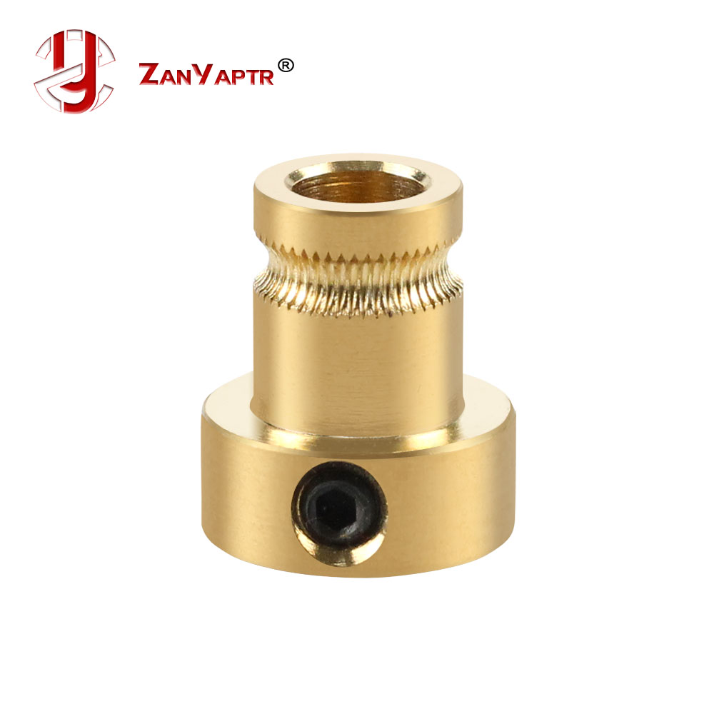 1Pcs Reprap Mendel Extruder Drive Gear For 1.75mm 3mm Brass Bore 5mm 3d Printer Feeding Hobbed Wheel Squeeze Feed Wheel
