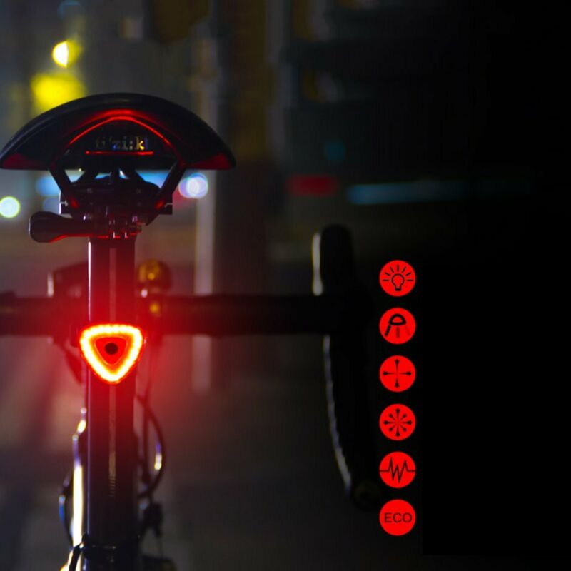 UK Bright USB Rechargeable Bike Bicycle Cycle LED Rear Tail Lights Light Safety
