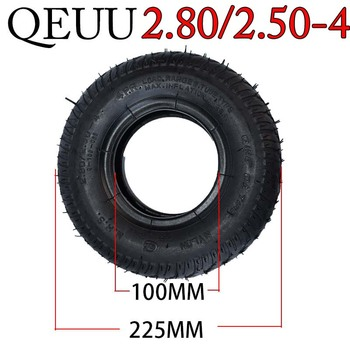 Neumático 2.80/2.50-4 para scooter eléctrico y neumático de silla de ruedas
