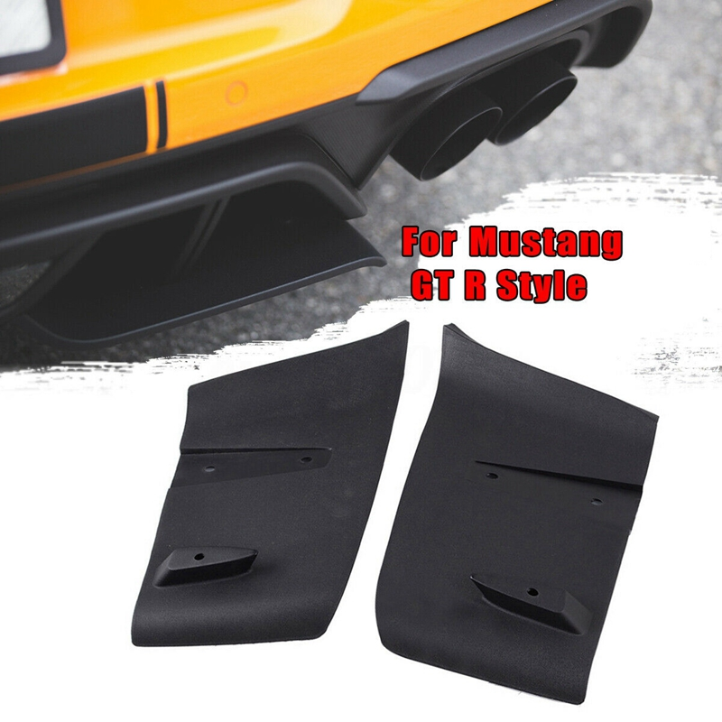 1 Pair Rear Bumper Diffuser Valance Aero Foil Kit for Ford Mustang 2018-2019 GT R Style