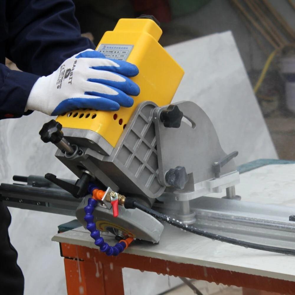 raizi 45 degree tile cutting saw machine with 2 7m rail guide large format porcelain ceramic portable large format tile cutter