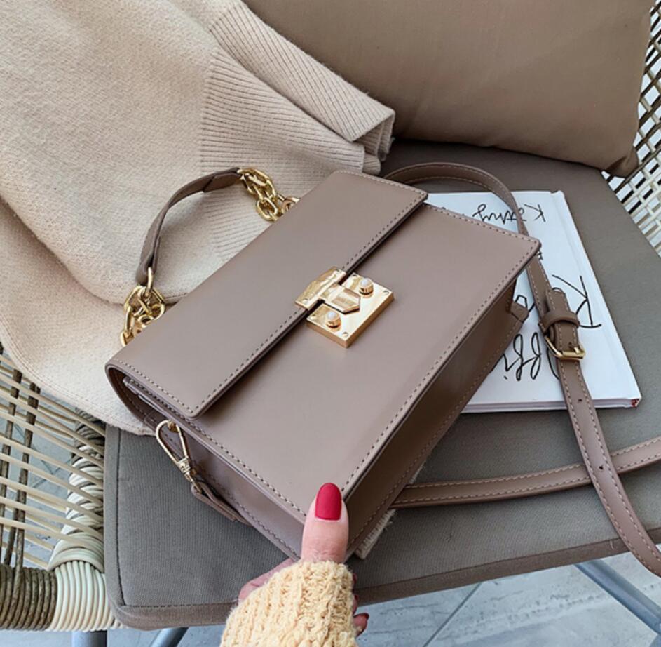 Elegant Female Chain Tote Bag 2019 Fashion New High Quality PU Leather Women's Designer Handbag Lock Shoulder Messenger Bag