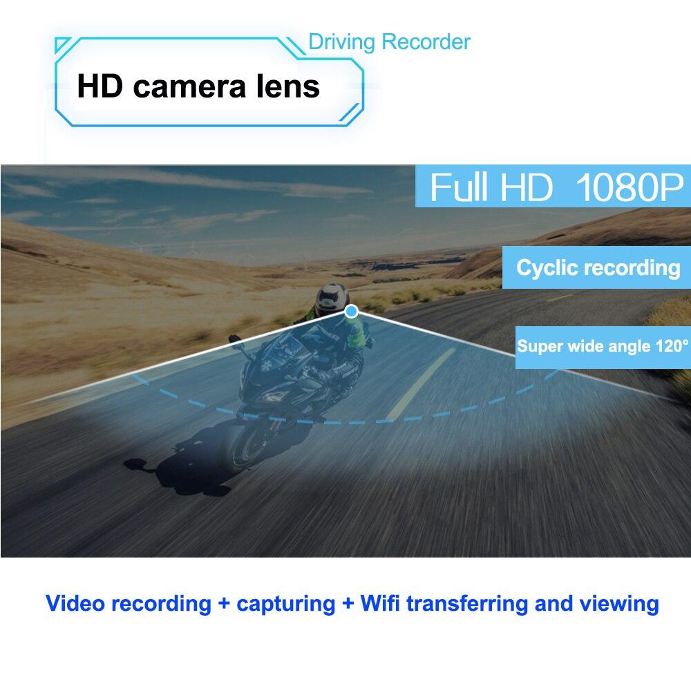 Freedconn r1 motocicleta intercom capacete fone de ouvido bluetooth intercom 1080 p hd vídeo wi fi gravador câmera intercomunicador - 2