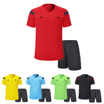 Zestawy mundurowe dla sędziego piłkarskiego 0118 poliestrowe mundury sędziów dorosłych męskie zestawy mundurów piłkarskich tanie i dobre opinie NoEnName_Null Poliester Pasuje prawda na wymiar weź swój normalny rozmiar Mens Referee Uniforms As Shown S M L XL 2XL 3XL
