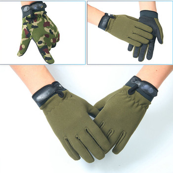 Wojskowe rękawice terenowe taktyczne Army Sports Airsoft przeciwpoślizgowe pełne rękawiczki kamuflaż HikingTraining Camping dla kobiet mężczyzn tanie i dobre opinie CLUSGO Nylon Pasuje prawda na wymiar weź swój normalny rozmiar Tactical Gloves Green Tan Black Camouflage 1 Pair Unisex