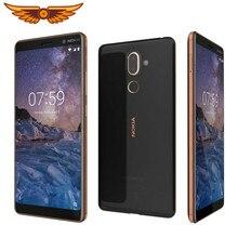 Original nokia 7 plus 6.0 polegadas octa-core 4gb ram 64gb rom 13mp câmera dupla sim lte impressão digital android desbloqueado celular