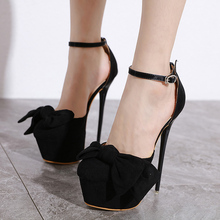Купить с кэшбэком ankle strap strappy heels Sexy pumps Party Shoes Women Round Toe Stiletto High Heel wedding Pumps perspex heels LJA916